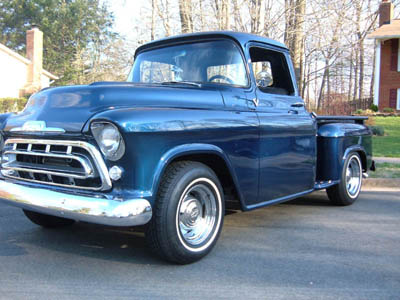 57 Chevy Truck - Front 3/4
